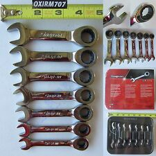 New Snap On 12 Pts Metric Stubby Combination Ratchet Wrench 7 Pcs Set OXIRM707