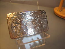 American Argento Sterling chiamando o Business Card Case blackington attleboro noi