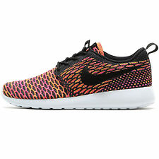 Womens Nike Roshe One Flyknit Trainers Multi Coloured Roshe Run Gym Shoes Size 4