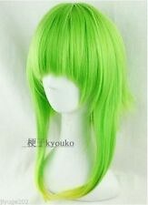 GUMI Medium Long Fashion Glass Green Mix Cosplay Straight Wig