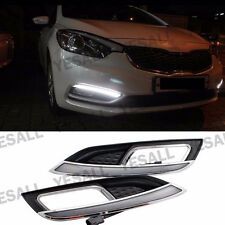 2x White LED Daytime Run Lights DRL Fog Drive For Kia Forte K3 Cerato 2013-2015