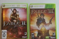 Fable II & III - Two Game Lot (Microsoft Xbox 360) - TESTED, GOOD CONDITION, 2 3