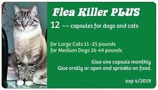 Flea Control with Flea Killer PLUS for Cats 11-25 lbs. 12 Green monthly Capsules