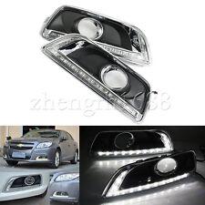 For Chevrolet Malibu 2012-2014 White LED Daytime Day Fog Lights DRL lamp set