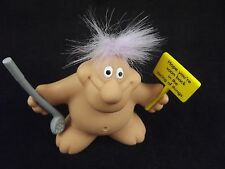 "RUSS BERRIE 3"" TROLL DOLL w GOLF CLUB NEW GEN Back in the Swing of Things Funny"