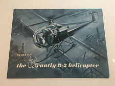 BRANTLY B-2 HELICOPTER BRTISH EXECUTIVE AIR SERVICES SALES BROCHURE