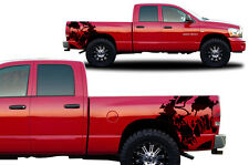 Custom Vinyl Decal SCREAM Wrap Kit for Dodge Ram 1500/2500 2002-2008 Matte Black