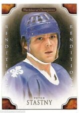11/12 PARKHURST CHAMPIONS RENDITIONS COLOR Peter Stastny #147