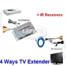 Wired AV Transmitter Sender Receivers IR Infrared Repeater Emitter TV Extender