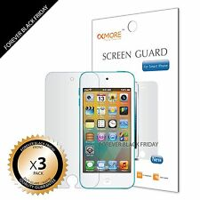3x Anti-Glare Matte Front Screen Protector Cover Guard For iPod Touch 5