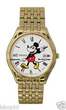 BRAND NEW LADIES DISNEY MICKEY MOUSE GOLD SEIKO DATE WATCH