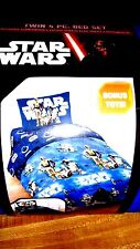 Disney Star Wars Force Twin  Bedding,four 4 piece  Bonus Tote-Reverse Comforter