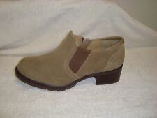 """Sporto  """"Annie"""" Suede leather Side-Zip Ankle Boots taupe 9m"""