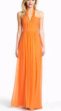 "$368 BCBG MELON  ""STARR"" HALTER SILK LONG DRESS NWT 4 P"