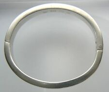 GUCCI Italy Sterling Silver Heavy Bangle Bracelet