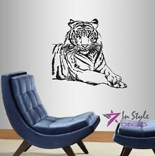 Vinyl Decal Tiger Lying Wild Animal Predator Wildcat Wall Sticker 32