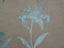Harlequin Curtain/Upholstery Fabric 'Ohana' 2.7 METRES Duck Egg Cut Velvet