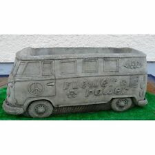 Stone Campervan - (Hippy) Stone Garden Ornament Planter