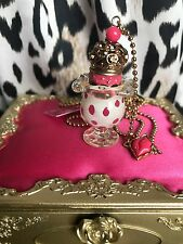 Betsey Johnson Vintage First Date Marilyn Ice Cream Sundae Diamond Ring Necklace