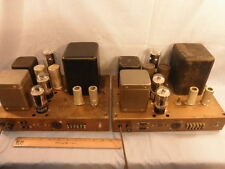 Matched Pair of 1958 Heathkit W-5M Tube Amplifiers 25 Watts/Amp PP 6L6GCs NR
