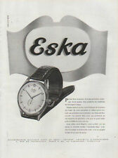 Publicité Advertising 1950 montre  ESKA Print AD