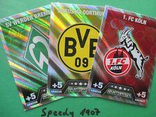 Topps Match Attax 14 15 alle 18 Wappen Logos  z.B. Dortmund Bayern   2014 2015