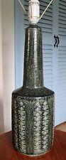 Vintage 1950's Danish Pottery Lamp signed Palshus MCM pottery lamp Le Klint