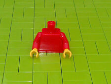 NEW LEGO BRICKS - 1 x MINIFIGURE TORSO - RED WITH YELLOW HANDS -