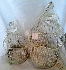 Vogelbauer Blumendekor Vogelbauer 2 Käfige Volieren ohne Griff Vintage Wand Deko