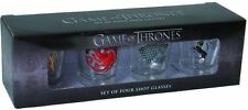 Official Game of Thrones House Sigil Shot Glasses HBO Stark Lannister Targaryen