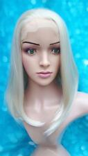 Ladies blonde lace front mid length full hair fashion wig,