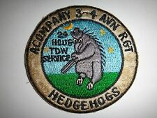 US Army Patch A Company 3rd Battalion 4th AVIATION Regiment HEDGEHOGS