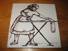 PORTUGAL PORTUGUESE PAULA REGO 1990s EDTI. IRONING  CERAMIC TILE CARREAU FLIESE