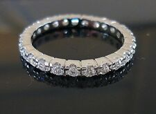 A**1 CT PLATINUM CLASSIC ETERNITY BAND WEDDING ANNIVERSARY Sizes 5 - 10