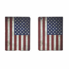Pellicola + Custodia VINTAGE PER APPLE IPAD Mini & 2 & 3 USA FLAG LEATHER COVER