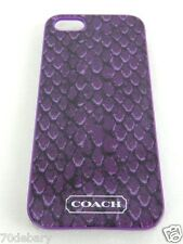 NEW Coach iPhone 5 Purple Taylor Snakeskin Print Phone Case Cover Skin 67057