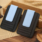 Genuine Leather Money Clip Magnet Slim Thin Pocket Wallet ID Credit Card Holders