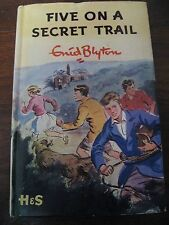 FIVE ON A SECRET TRAIL By Enid Blyton 1st Edition First Famous Hardcover HC DJ