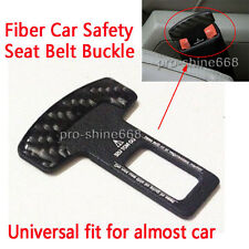 1X Real Carbon fiber Car safety seat belt buckle alarm stopper Null clip clamp Q