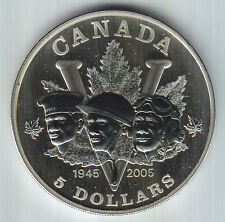 2005 60TH Anniversary Canadian WWII $5 Privy Mark Silver Coin