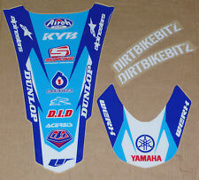 YAMAHA YZF 250 YZF 450 FRONT & REAR MUDGUARD FENDER GRAPHICS STICKERS 06 -09