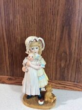 Jan Hagara  Porcelain Figurine Jenny And Her Bye Lo Doll 1983 by Royal Orleans