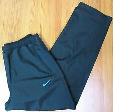 NEW! NIKE GOLF STORM-FIT Mens POLYESTER PANTS BLUE & BLACK ZIPPING POCKETS Sz L