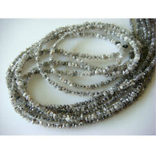 "Rough Loose Diamonds Natural Raw Uncut Beads White 2mm-3mm 4"" Strand GM14"