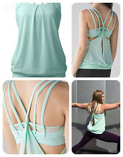 NWT Lululemon Nouveau Limits Tank Sz.2 Sea Mist Green Yoga