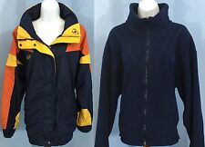 Columbia Bugaboo 3 In 1 Women's Med Blue Yellow Orange Fleece Zip Liner Jacket