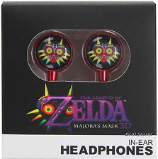 The Legend Of Zelda: Majora's Mask Earbuds Earphones Headphones Nintendo NEW