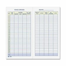 """BRAND NEW!Adams® Vehicle Mileage and Expense Record Book, AFR-11 3-1/4"""" x 6-1/4"""""""