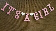 ITS A GIRL Banner Photo Prop Gender Reveal Baby Shower Decoration