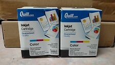 Lot of 2 Quill Brand Remanufactured Lexmark #26 10N0026 Color Ink Cartridges
